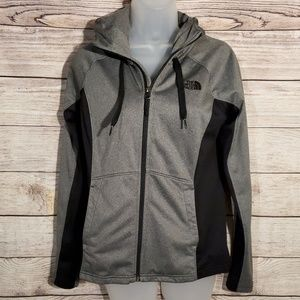 The North Face gray and black zip up hoodie